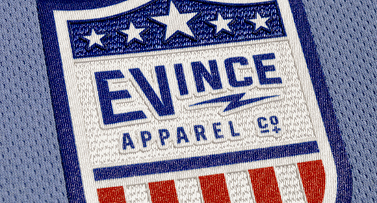 EVince Apparel ProLite 3D made in the USA crest